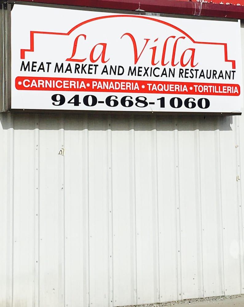 La Villa Meat Market & Mexican Restaurant: 3415 E Hwy 82, Gainesville, TX