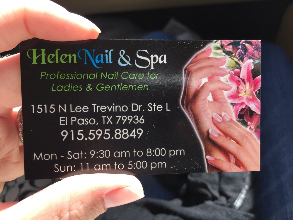 Helen Nail And Spa: 1515 N Lee Trevino Dr, El Paso, TX