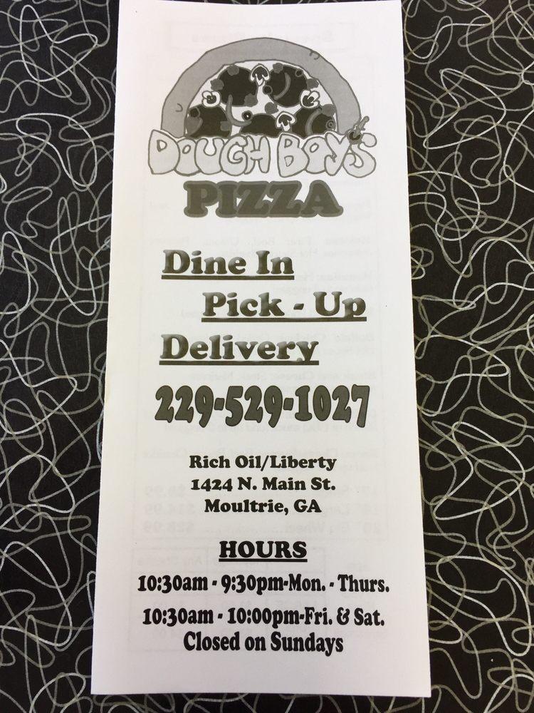 Dough Boy's Pizza: 1424 N Main St, Moultrie, GA