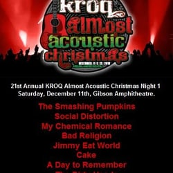 Kroq Almost Acoustic Christmas.Kroq Almost Acoustic Christmas Arts Du Spectacle 100