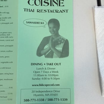 Superior Photo Of Bangkok Thai Cuisine   Barnstable Town, MA, United States. Menu And