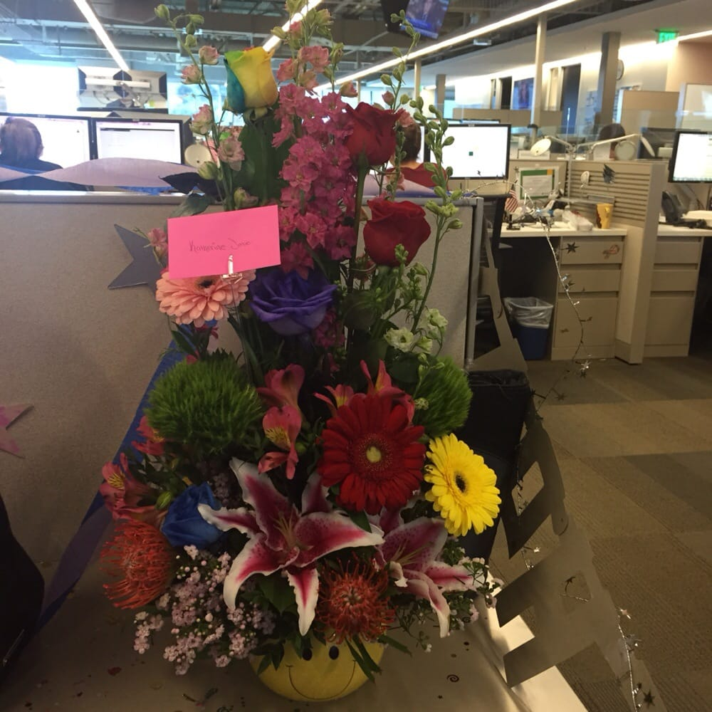 For my birthday, my friend sent me flowers at work from my favorite flower shop. Everbloom Flowers Mira Mesa - Yelp