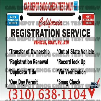 Dmv Smog Check >> Registration Services Vin Verification Dmv Services Smog