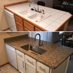 Photo Of Precision Countertops   Wilsonville, OR, United States. White Tile  Countertops Before