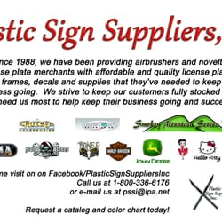Plastic Sign Suppliers - Printing Services - 1113 E Faulkner
