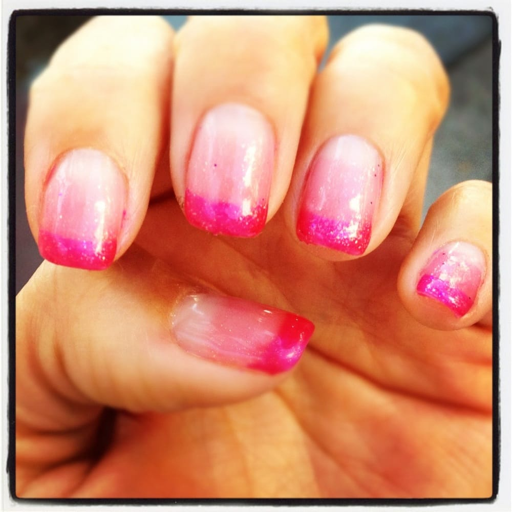 Mobile Nail Spa Los Angeles: Graduated Half Moon Gel Manicure