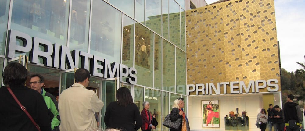 printemps department store main entrance yelp. Black Bedroom Furniture Sets. Home Design Ideas