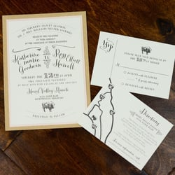 Photo Of Soiree Signatures By Lindsey Stiegler Mobile Al United States Custom Designed Wedding Invitations