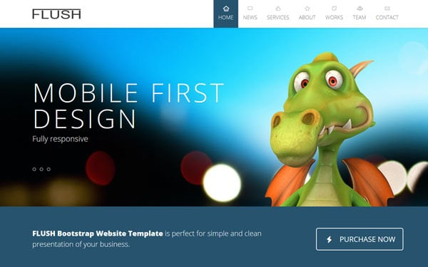 Bootstrap Web template - Yelp