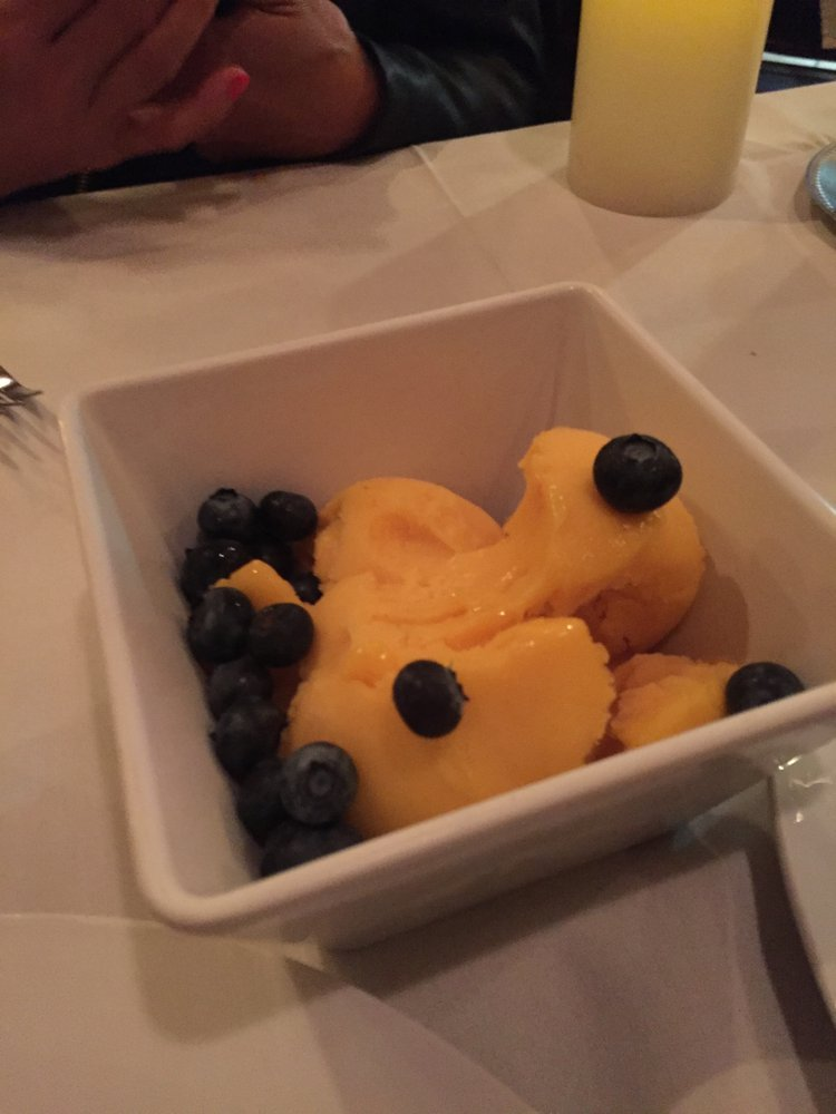 Mango Sorbet With Blueberries Yelp