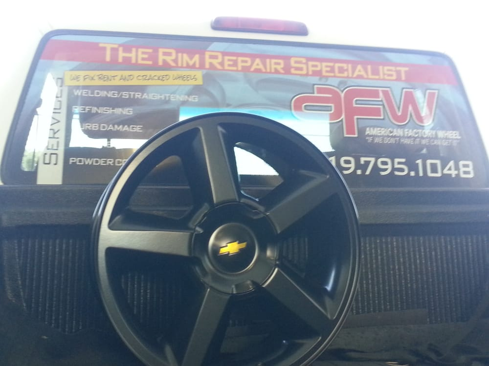 """20"""" Chevy Tahoe OEM rims powder coated to black, awesome ..."""