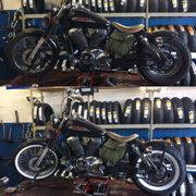 both tires installed photo of ct motorcycle tires reseda ca united states
