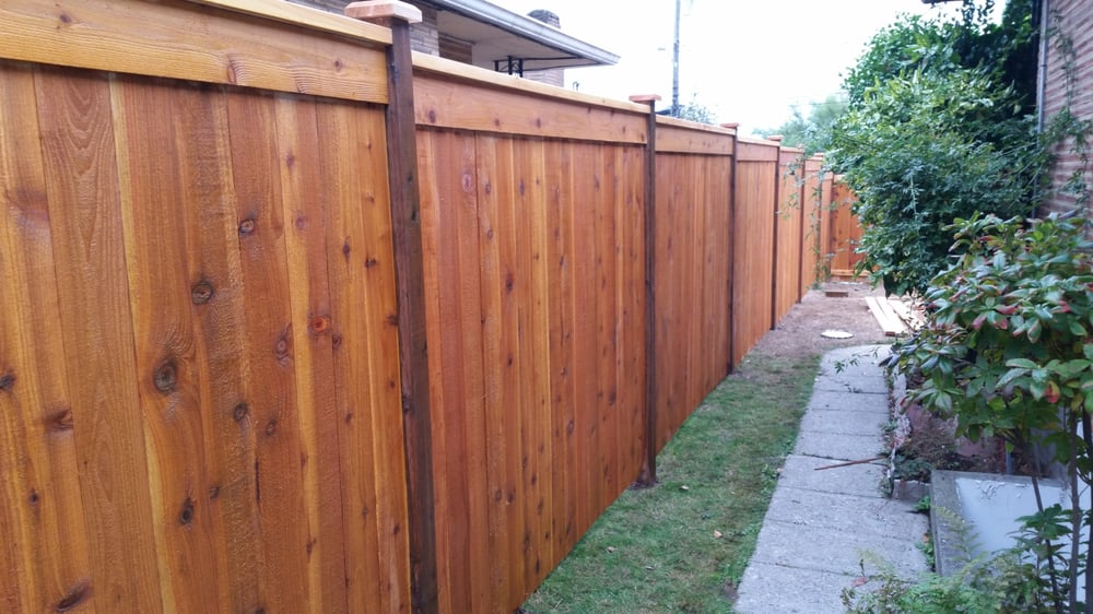 Modified Panel Design Fascia Trim Side Of Fence Stained