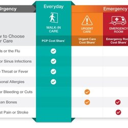 On choosing urgent-care vs. emergency team individuals get useless advice