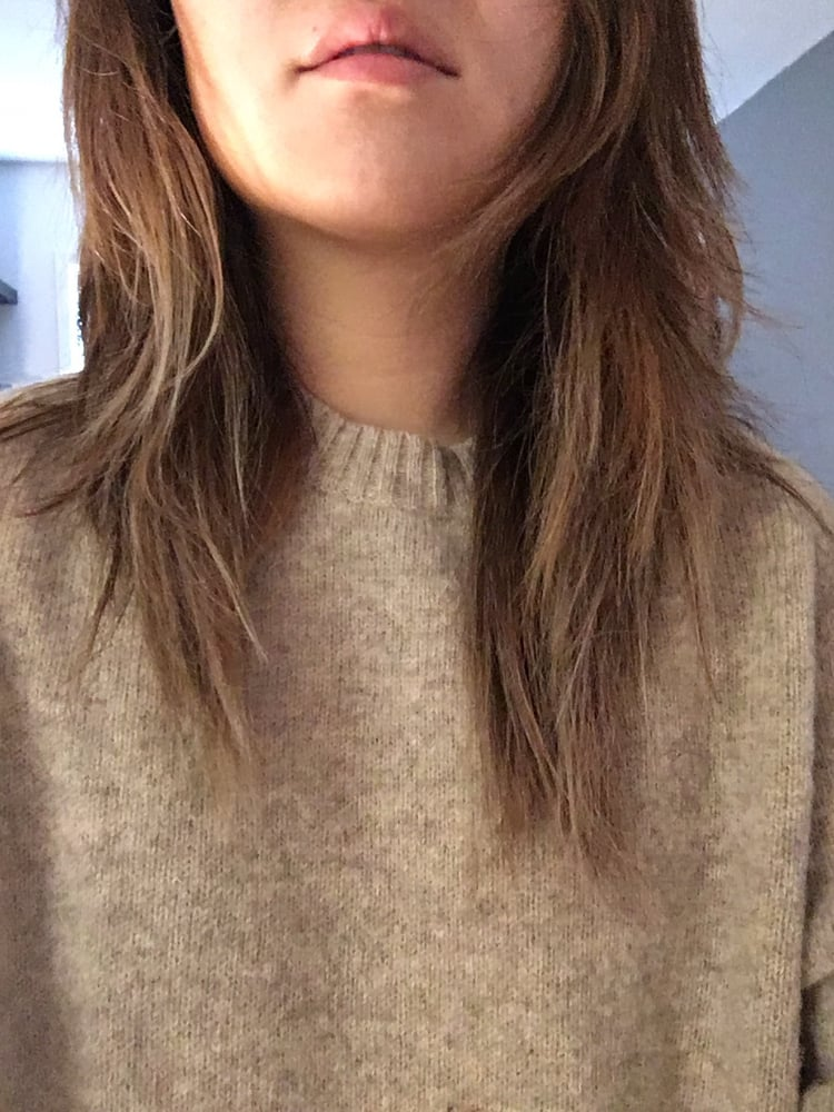 Lopsided and random layers that make my hair look like it for Aaron emanuel salon nyc