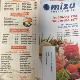 Sushi Zanesville Ohio