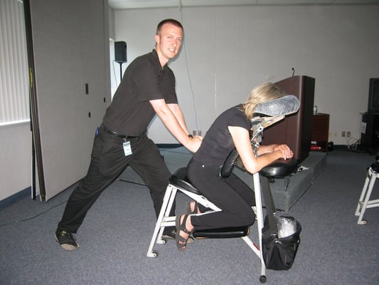 Elegant Photo Of Feel Good Chair Massage   Toronto, ON, Canada. At A Corporate