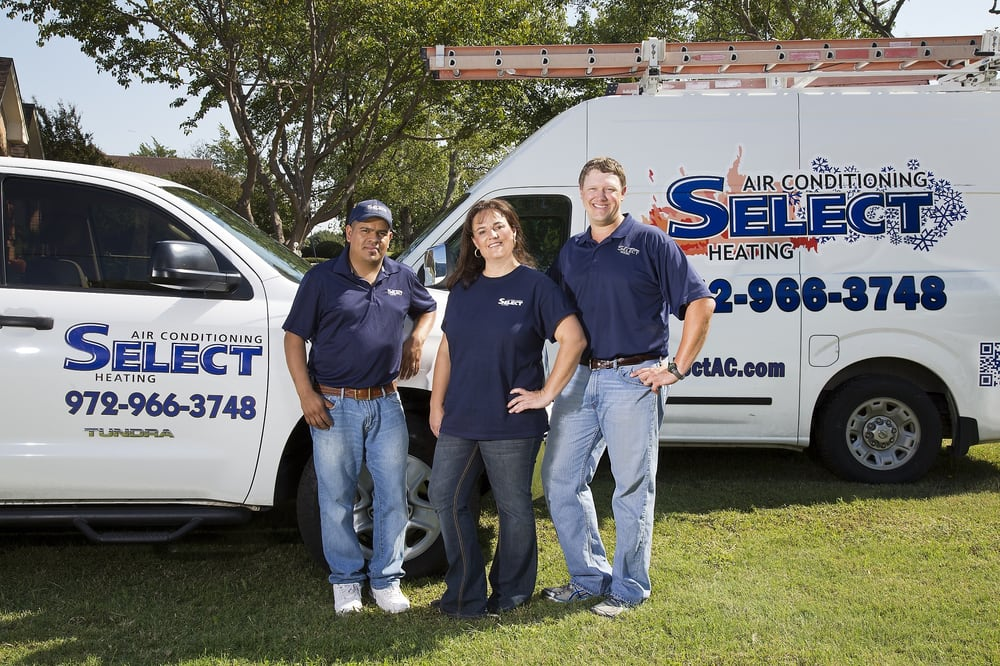 Select Air Conditioning and Heating: 165 Double Oaks Dr, Lewisville, TX