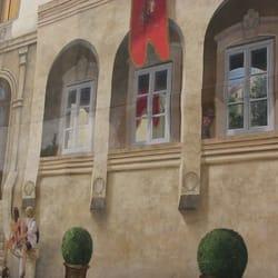 Fresque en trompe-l'oeil - Montpellier, France. Fresque trompe l''oeil Saint Roch Montpellier