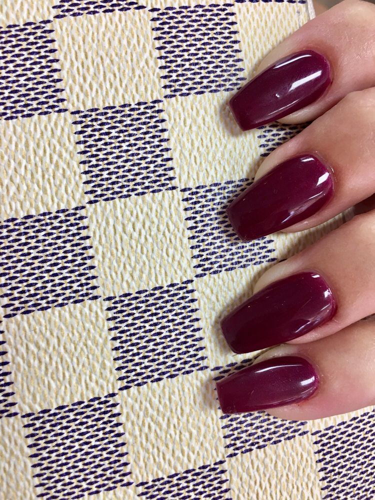 Kiss me or elf OPI gel with coffin acrylic nails! - Yelp
