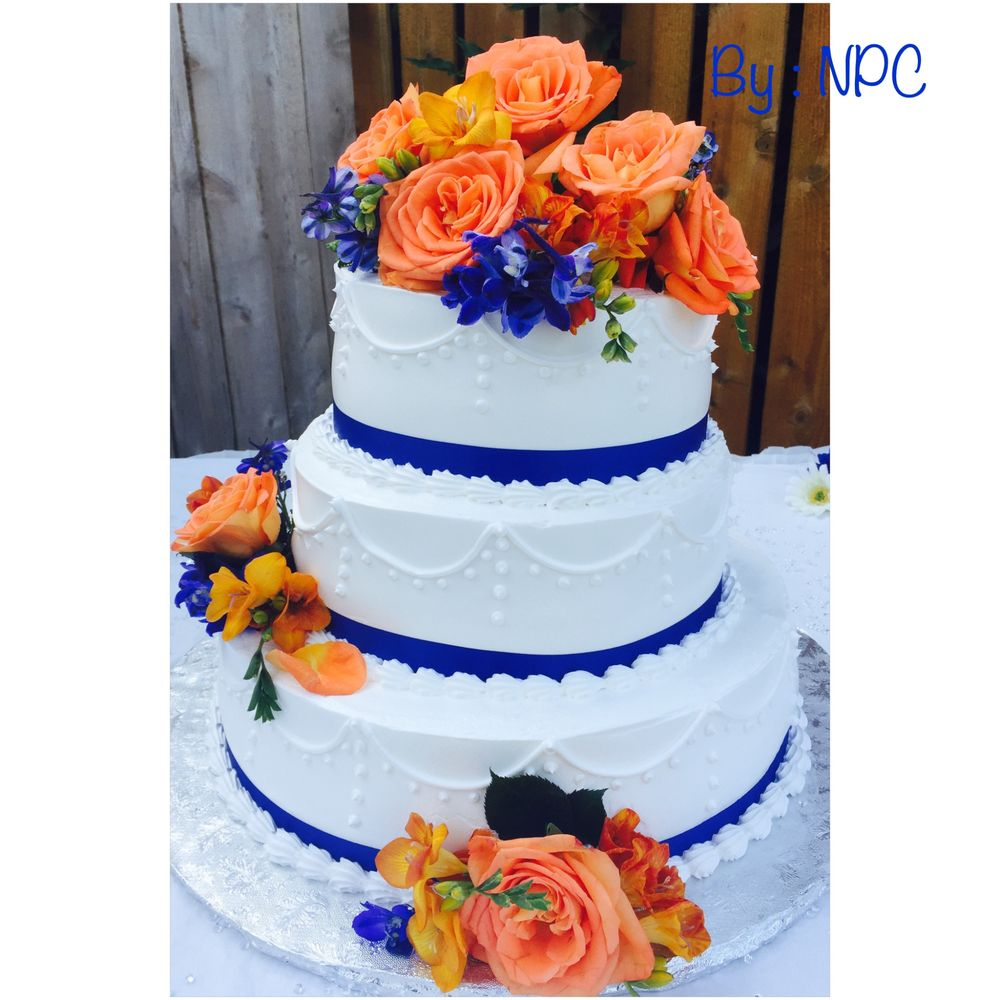 Royal Blue Wedding Cakes Wedding Photography
