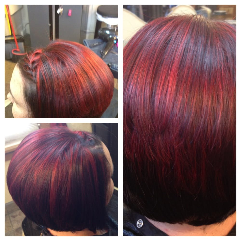 Bright Red Highlights And Dark Brown Base Yelp