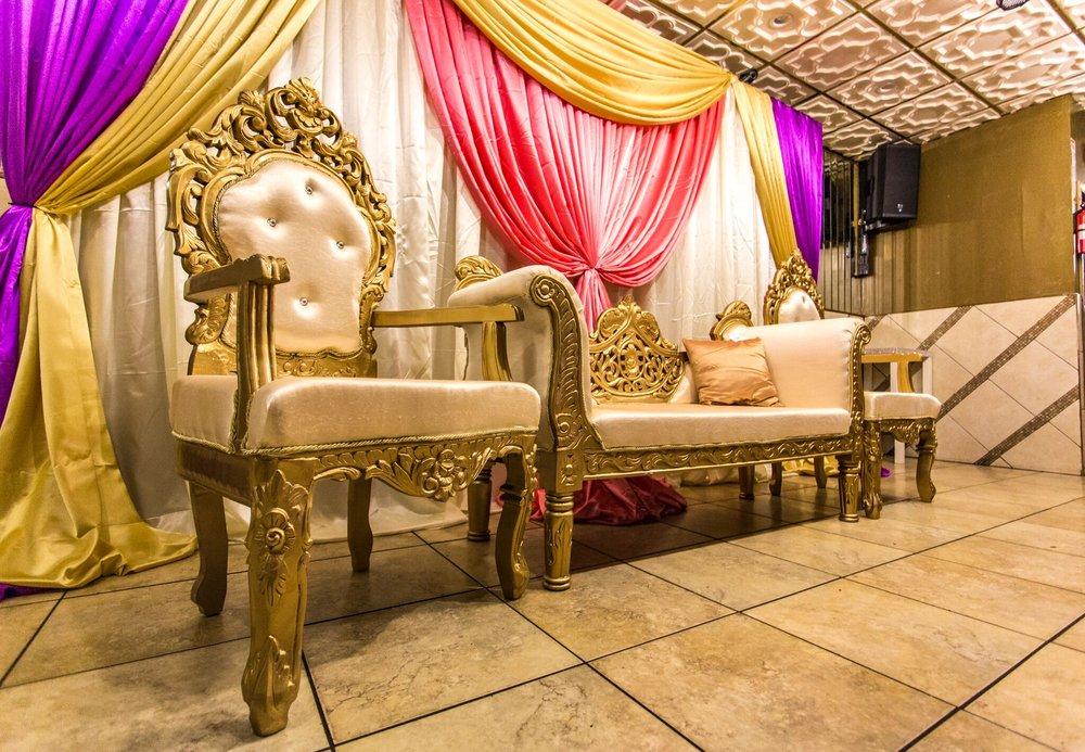 Bengali Gaye Holud Wedding Seating And Mandap Engagement Party Yelp