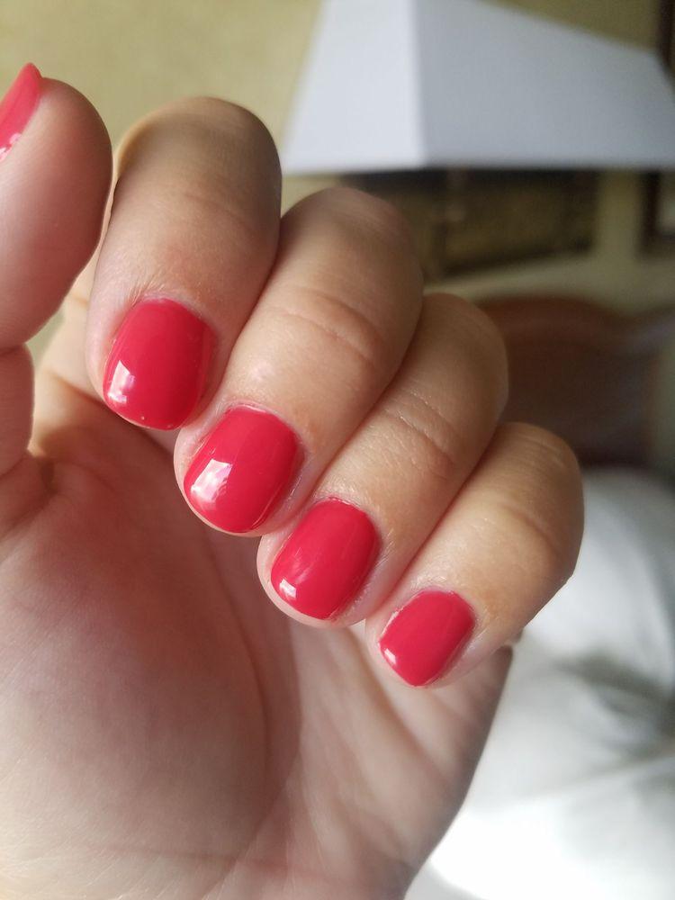 Pretty Color, Decent Manicure, Some Polish On Cuticle Area