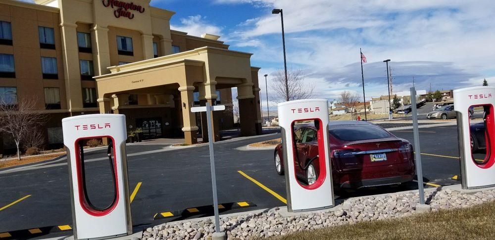 Tesla Supercharger - Evanston: 101 Wasatch Rd, Evanston, WY