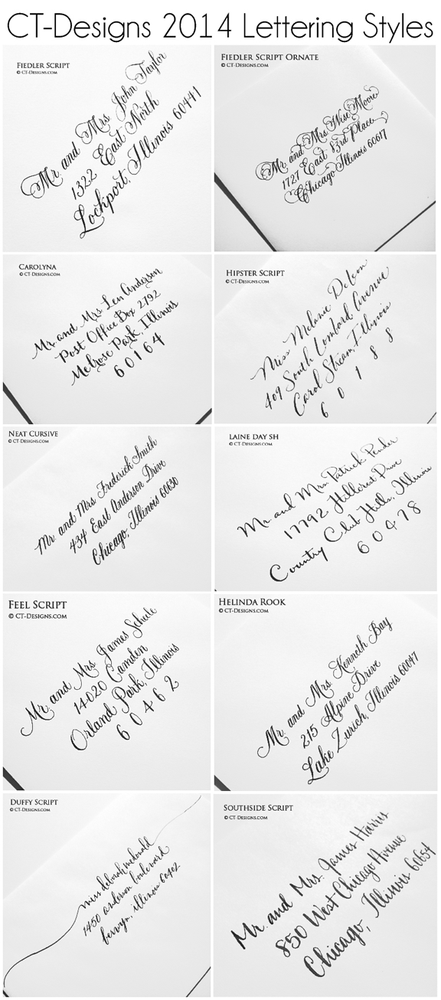 Ct designs calligraphy wedding stationery photos