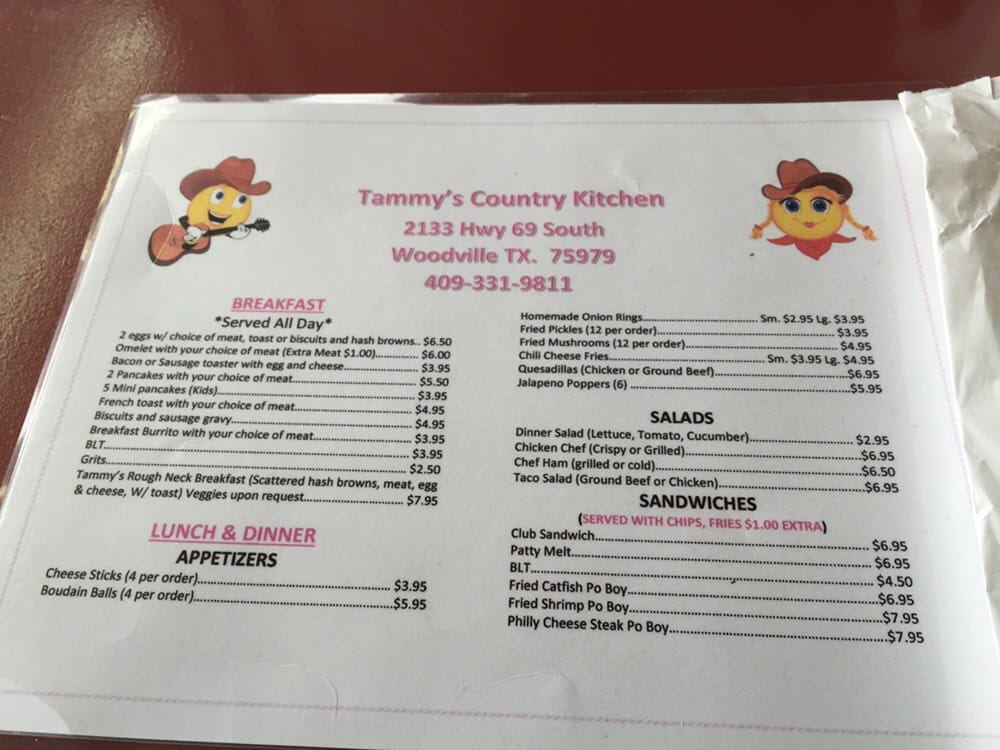Tammy S Country Kitchen Woodville Tx