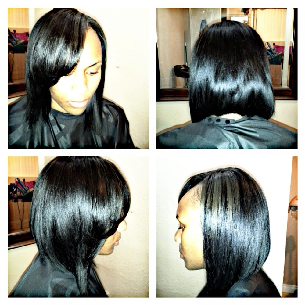 Sew in bob with very little leave out yelp 28 photos for hair extensions styles by christine jeuxipadfo Images