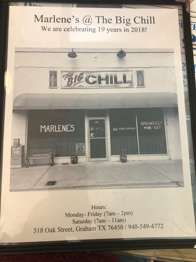 Marlene's@the Big Chill: 518 Oak St, Graham, TX