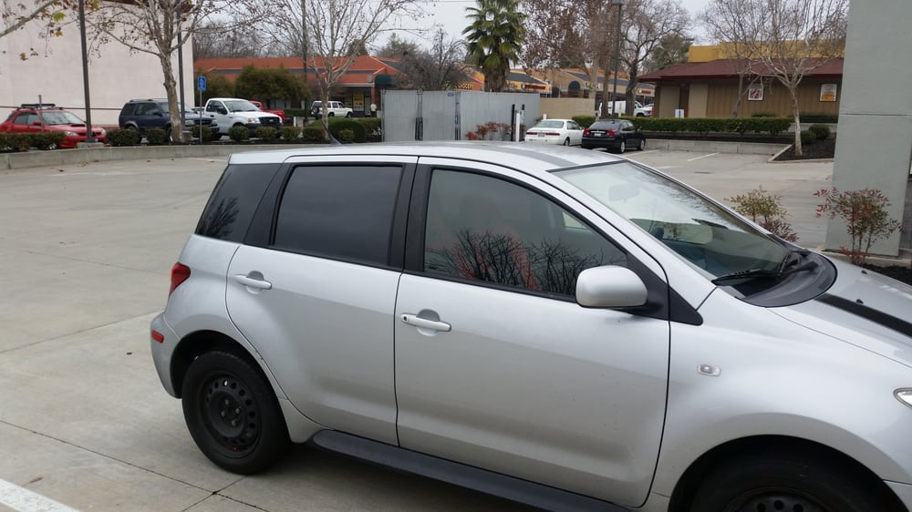 The finish product of my car with the tint it looks for Five star windows
