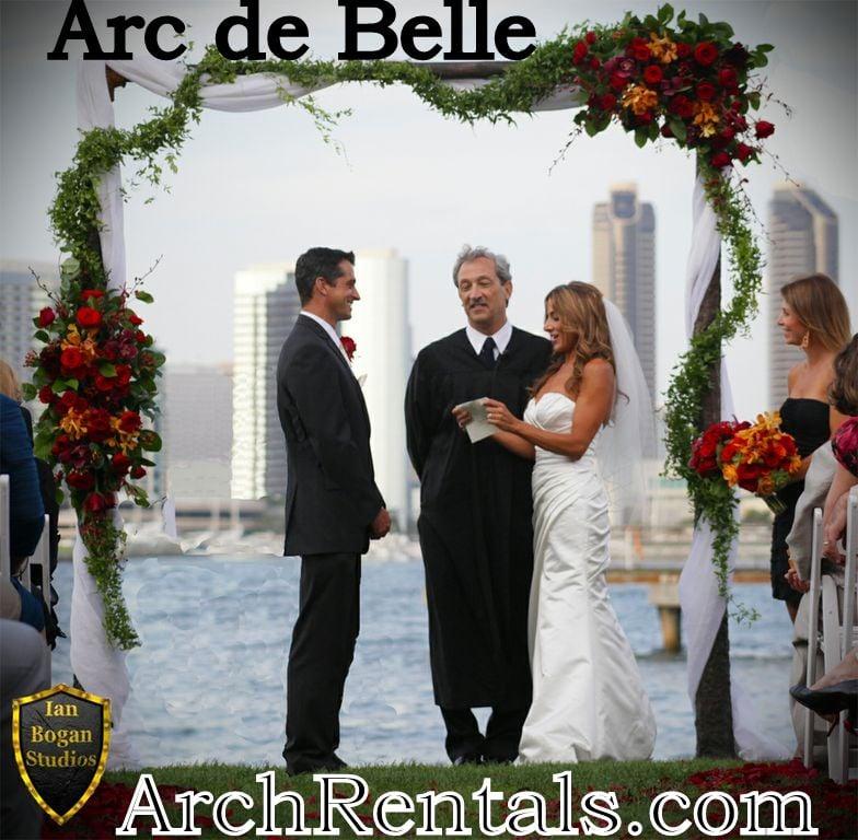 Dark Wood Rustic Wedding Arch Rentals Candelas Coronado Available In Los AngelesSan Diego