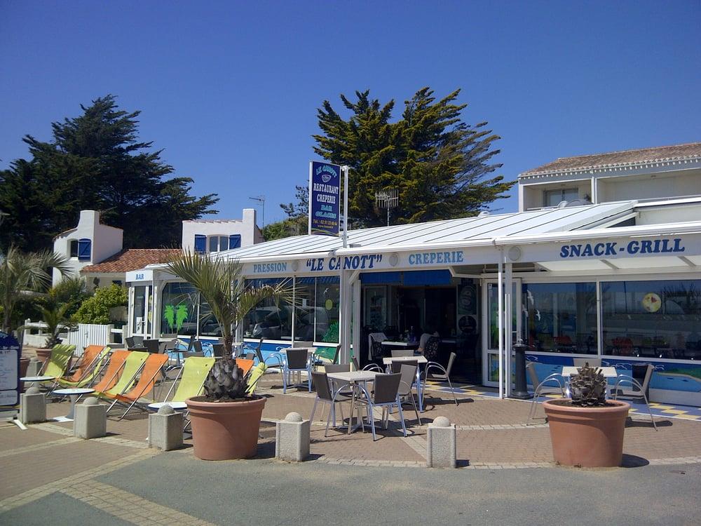Le canott cr peries parking du port jard sur mer for Jard sur mer restaurant