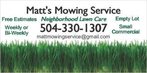 Matt's Mowing & Landscaping Service