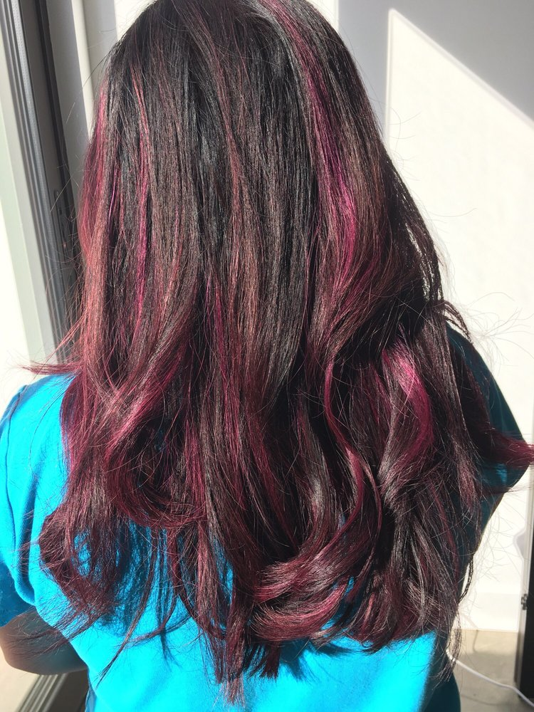 Love The Purple Highlights With A Hint Of Pink Yelp