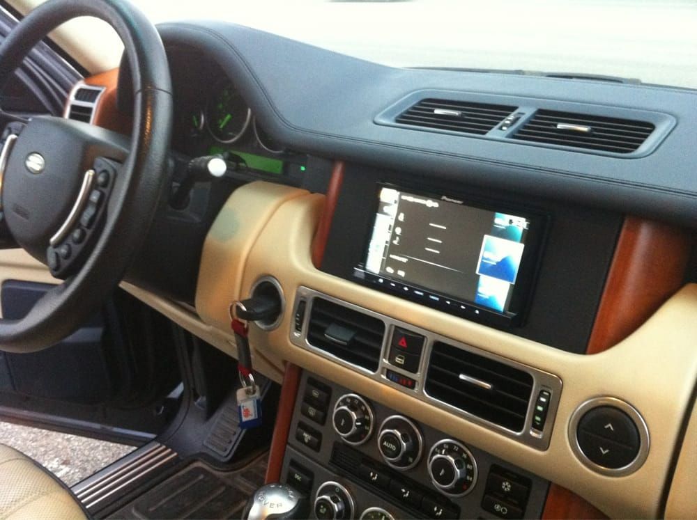 Custom Double Din Navigation Radio Bezel In A Range Rover
