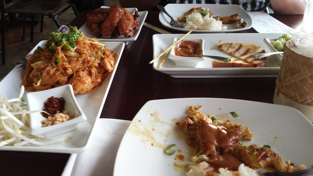 Chicken satay fried chicken wings chicken pad thai yelp for Ano thai lao cuisine
