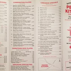 Peking Kitchen Menu