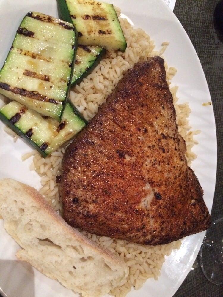 Huge price of cajun ahi menu say medium but was rare for California fish grill