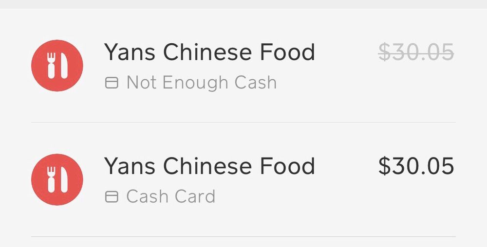Charge from Cash App  - Yelp