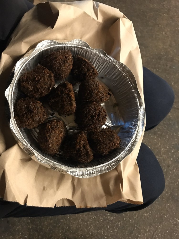 Food from Mamoun's Falafel