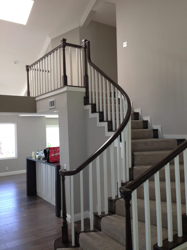 New Carpet On Stairs And Upstairs And Hardwood Downstairs