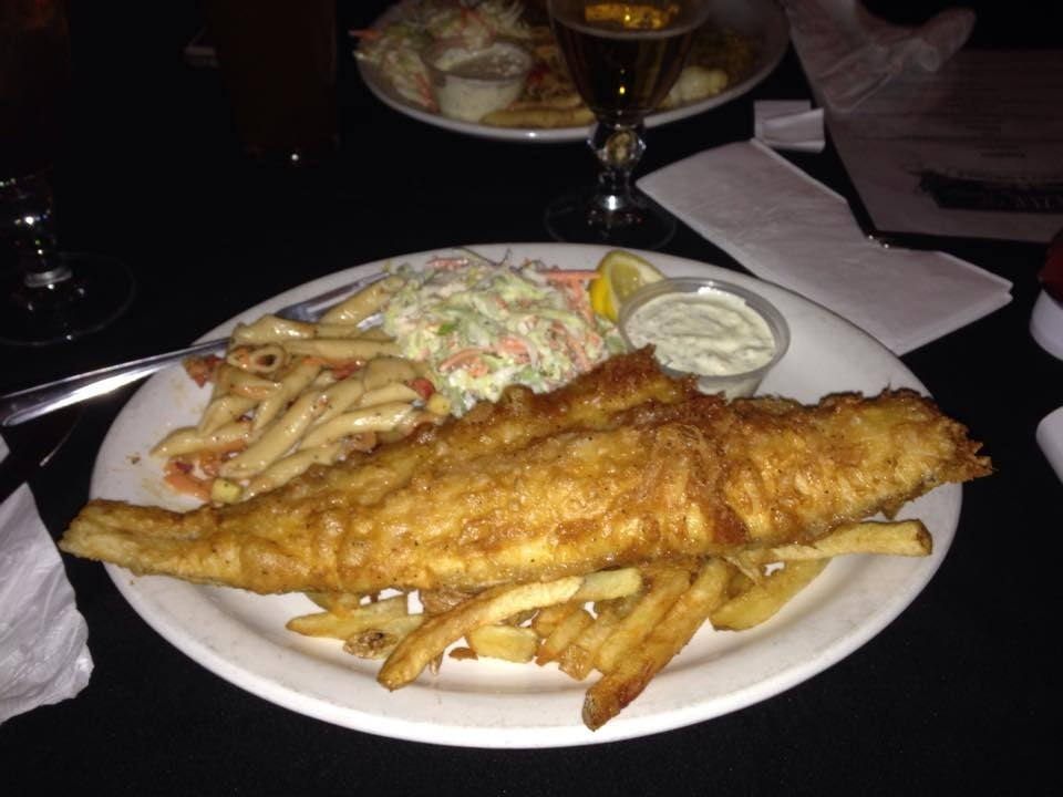 Friday fish fry deep fried haddock in aviator red irish for Friday fish fry near me