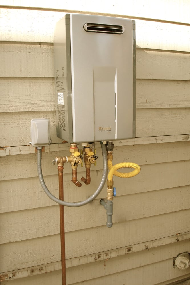 outdoor tankless water heater installation. - yelp