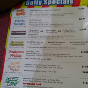 Photo Of Putt Putt Fun House   Webster, TX, United States. Specials