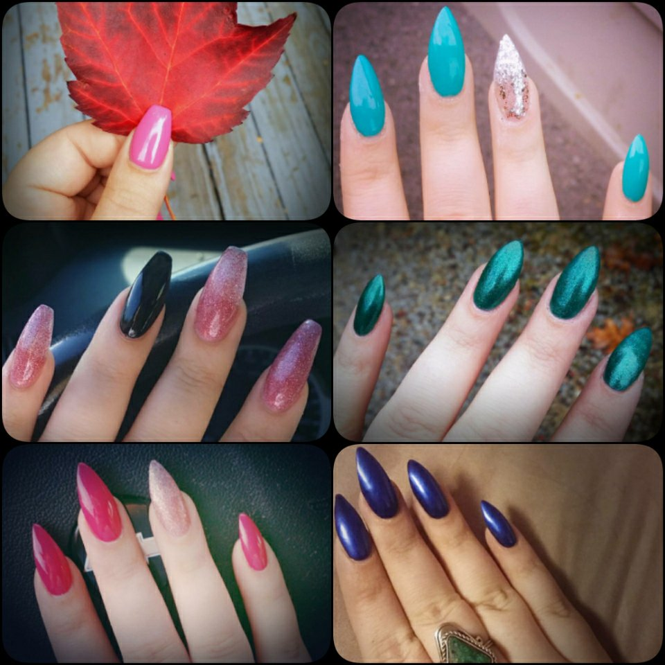 All my different nails, all done at Eden Nails. I changed from claw ...