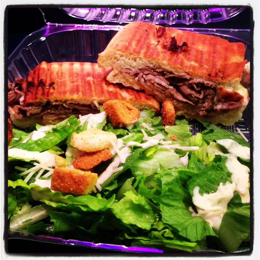 Tri-Tip Panini And A Side Caesar Salad